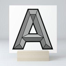 Silver A Mini Art Print
