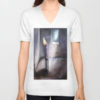 depression V-neck T-shirts featuring depression by Michael Anthony Alvarez