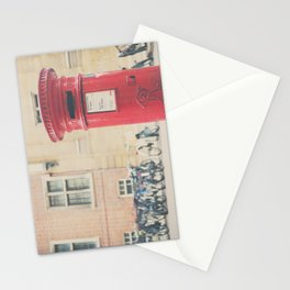 Red letter box in Cambridge, England print Stationery Cards