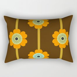 Cool Cat - minimal retro vibes floral flower power 1970s style throwback colors decor 70's Rectangular Pillow