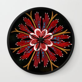 Coral fingers Wall Clock