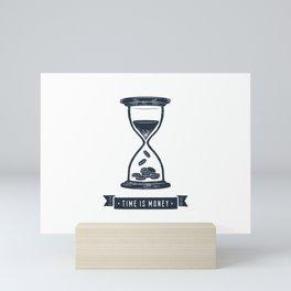 Time Is Money. Motivational Quote.Creative Illustration Mini Art Print