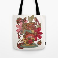 good morning Tote Bags featuring Good Morning by Valentina Harper