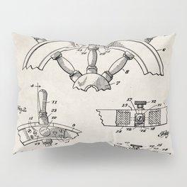 Ships Wheel Patent - Boat Wheel Art - Antique Pillow Sham