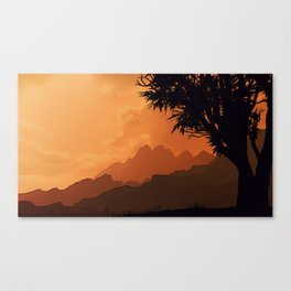 Into the West Canvas Print