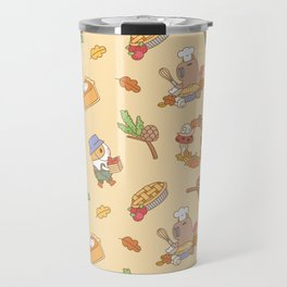 Bubu the Guinea pig, Fall and Pie Travel Mug