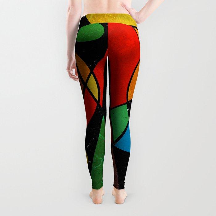 Abstract #341 Leggings