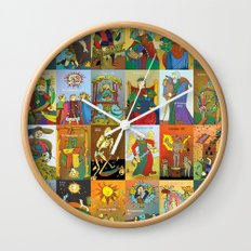 Tarot of Marseilles Wall Clock