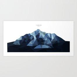Pioneer Peak + The Butte Art Print