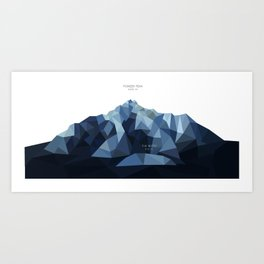 Pioneer Peak + The Butte Art Print