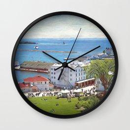 Mackinaw Island View Wall Clock