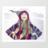 anna Art Prints featuring AnnA by Andon Georgiev