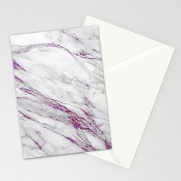 Gray and Ultra Violet Marble Agate Stationery Cards