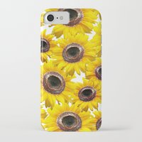 sunflowers iPhone & iPod Cases featuring Sunflowers by Regan's World