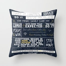 Motivation - 25 Quotes Throw Pillow