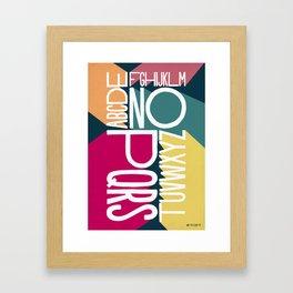 ALPHABET 1 Framed Art Print