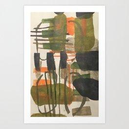 garden path at dusk (woven series) Art Print