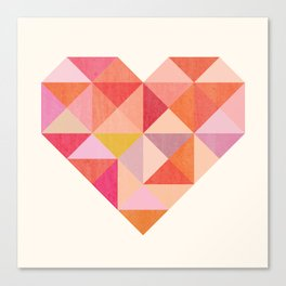 Geohearts Canvas Print