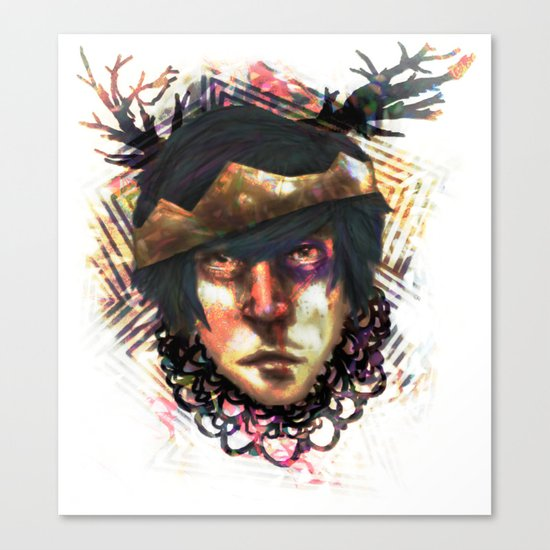 Gleam Diamond Punk King Canvas Print