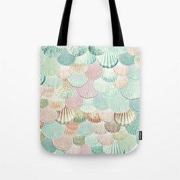 MERMAID SHELLS - MINT & ROSEGOLD Tote Bag