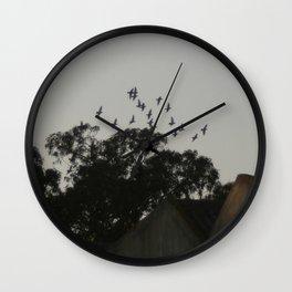 Nightfall flight Wall Clock