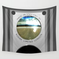 vintage camera Wall Tapestries featuring Vintage Camera by The Wellington Boot