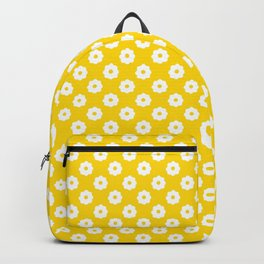 60s Ditsy Daisy Floral in Sunshine Yellow Backpack