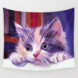 Cat Window Perch Wall Tapestry
