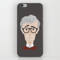woody allen iPhone & iPod Skins featuring Woody Allen by Alexander Kuzmin