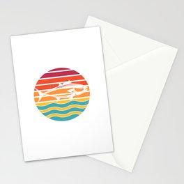 Bluefin Tuna Fishing, Vintage Sunset Stationery Cards
