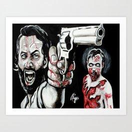 Waking Dead Rick Grimes Art Print