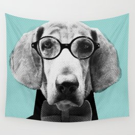Mr Italian Bloodhound the Hipster Wall Tapestry