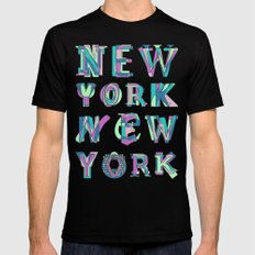 NYC Mens Fitted Tee MEDIUM Black