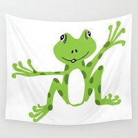frog Wall Tapestries featuring Frog by PoseManikin