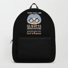 They Call Me Grandma Backpack