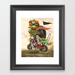 Minibike Weirddoh Framed Art Print