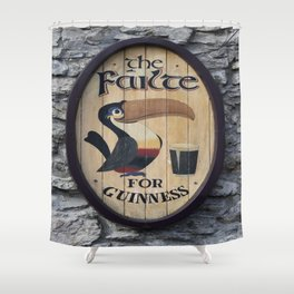 Wooden Guinness Sign Shower Curtain