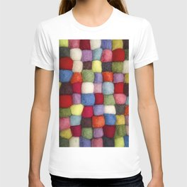 Colorful pattern of cotton balls T-shirt