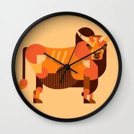 Bull Orange Wall Clock
