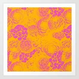 Florals Inversion Art Print
