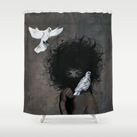 mother Shower Curtains featuring Mother by Angie Milo