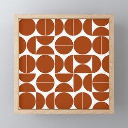 Burnt orange mid century moderna Framed Mini Art Print