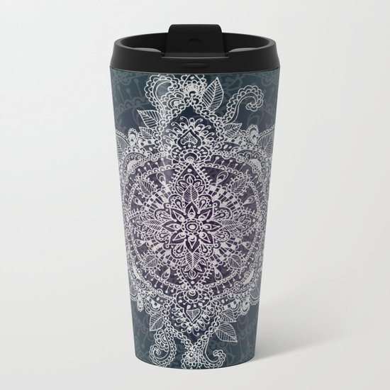 Mandala Magic  Metal Travel Mug