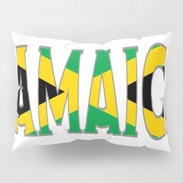 Jamaica Flag Font Pillow Sham