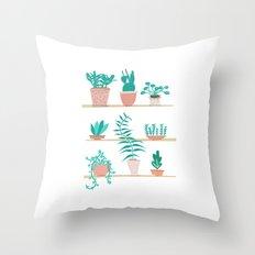 Pot Plants Throw Pillow