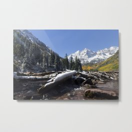 Maroon Bells Outside Aspen, Colorado Metal Print