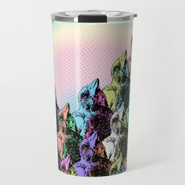 Contra Mundum Rainbow Magpies! Travel Mug