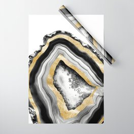 Agate Gold Foil Glam #1 #gem #decor #art #society6 Wrapping Paper