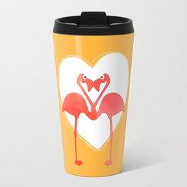 lovebirds - flamingos in love Travel Mug