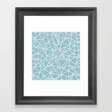 Ab Outline Salt Water Framed Art Print